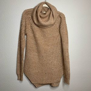 ALTAR'D STATE Beige Cowl Neck Tunic Sweater M